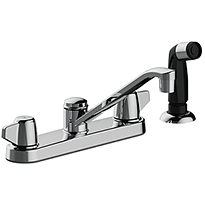 Two Handle Washerless Valve Kitchen Faucets
