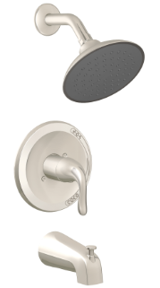 Single Control Tub & Shower Trim, Slip On Diverter, Job Pack P4B-730BN6JP